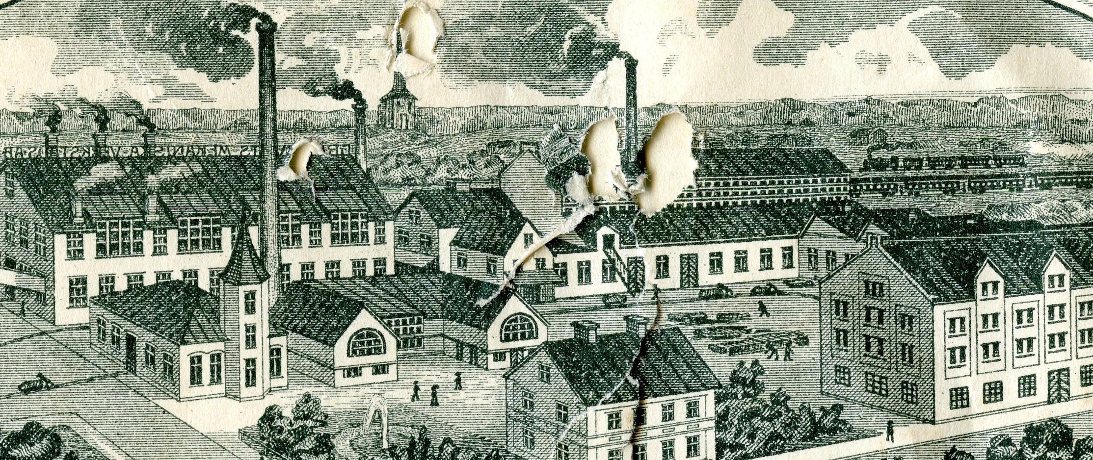 Brevhuvud över Grönkvists i Katrineholm 1908