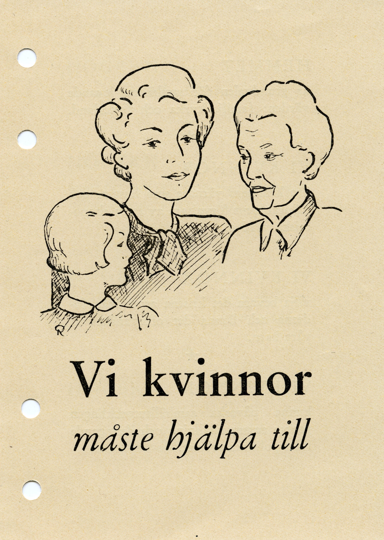 Högerkvinnor uppmanas att hjälpa till i valarbetet, 1940-tal. Nyköpings högerkvinnoklubbs arkiv, Arkiv Sörmland/Nyköpings stadsarkiv