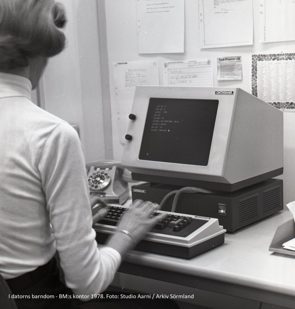 I datorns barndom - BM:s kontor 1978. Foto: Studio Aarni/Arkiv Sörmland