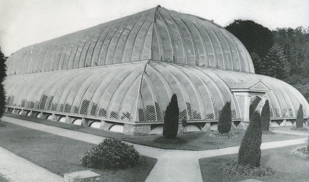 Den imponerade vinterträdgården vid Chatsworth under 1800-talet. Foto: okänd/Wiki Commons