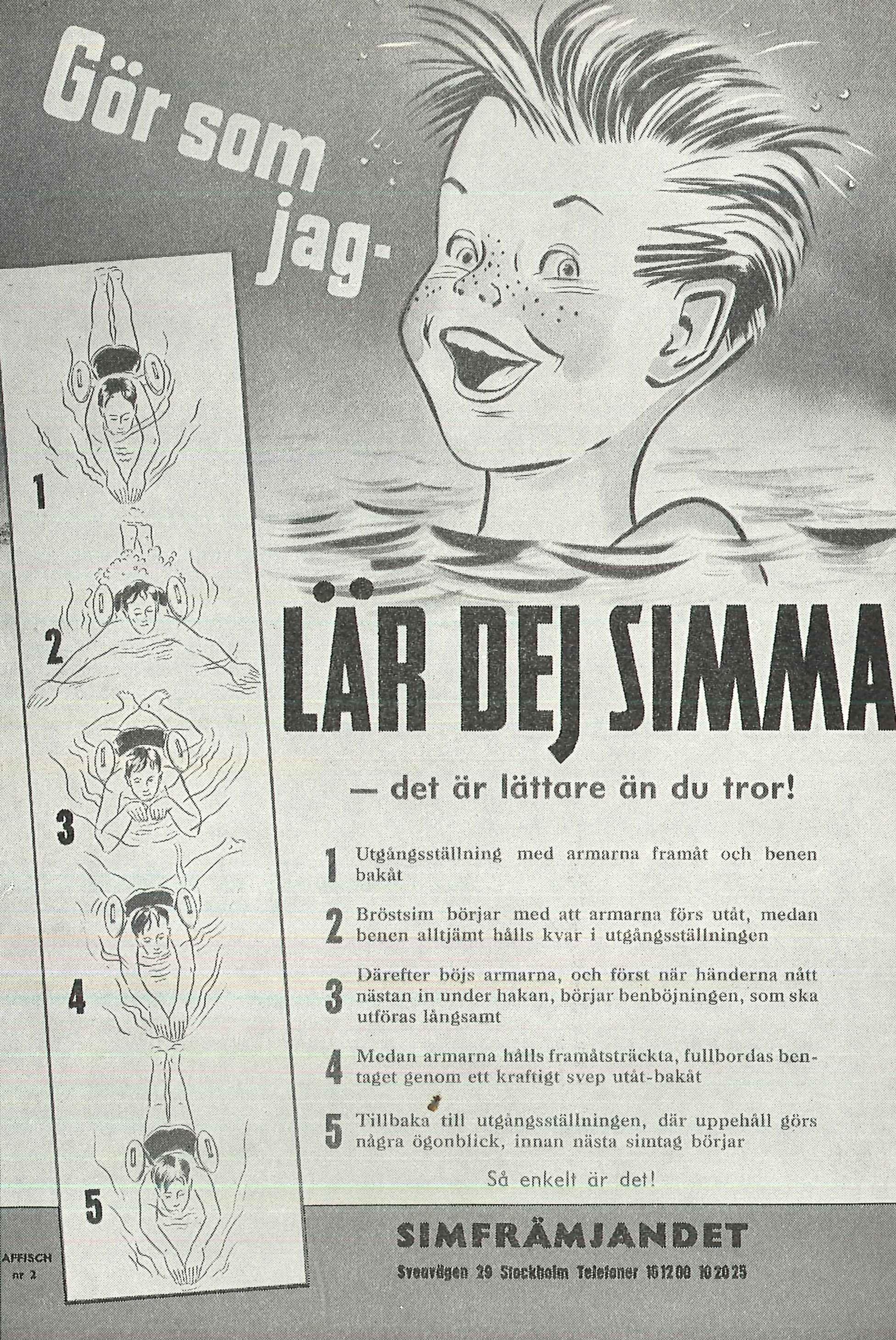 Instruktioner ur simlärarens dagsbok 1961. Brasstorps sommarstugeförenings arkiv