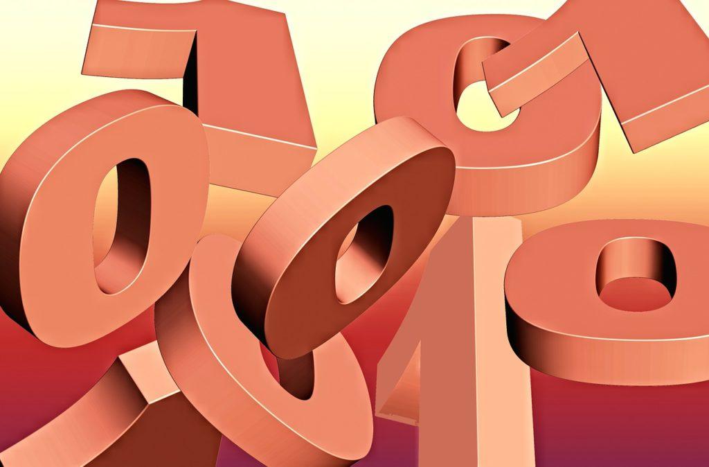 3D-Illustration föreställande flertalet ettor och nollor.