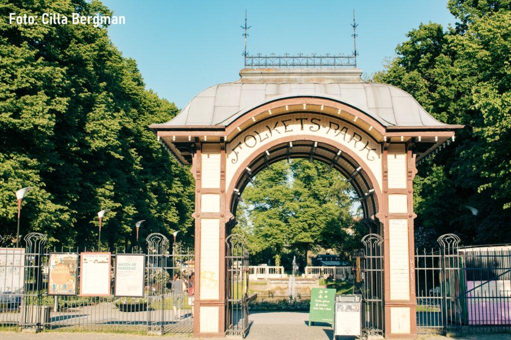 Ingång till Malmö Folkets park, Sveriges första från 1893. Foto: Cilla Bergman