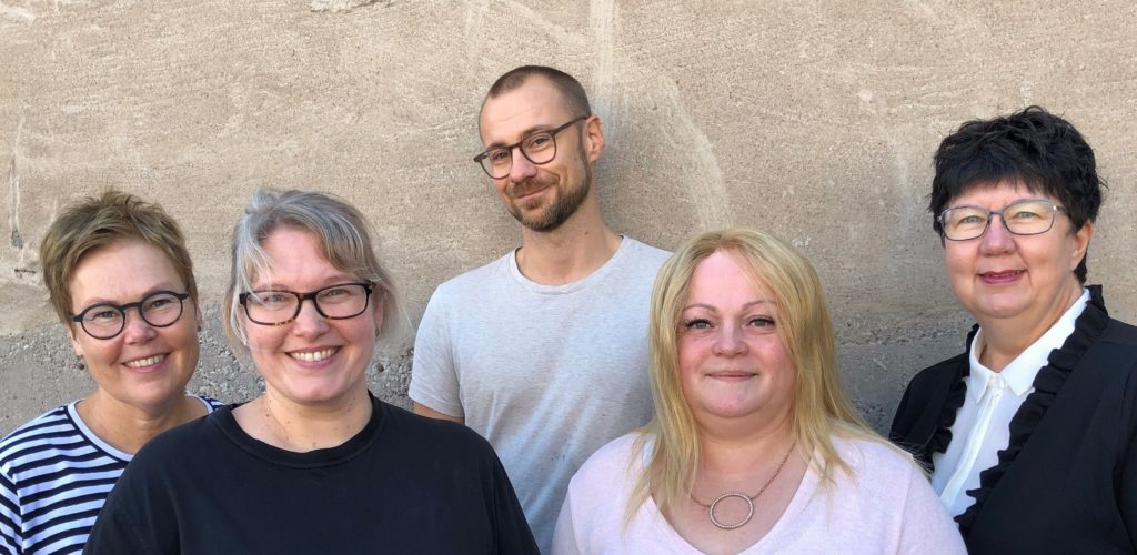 Personalen 2019: Annika, Helena, Theo, Marie, Lena. Foto: Susanne Granlund