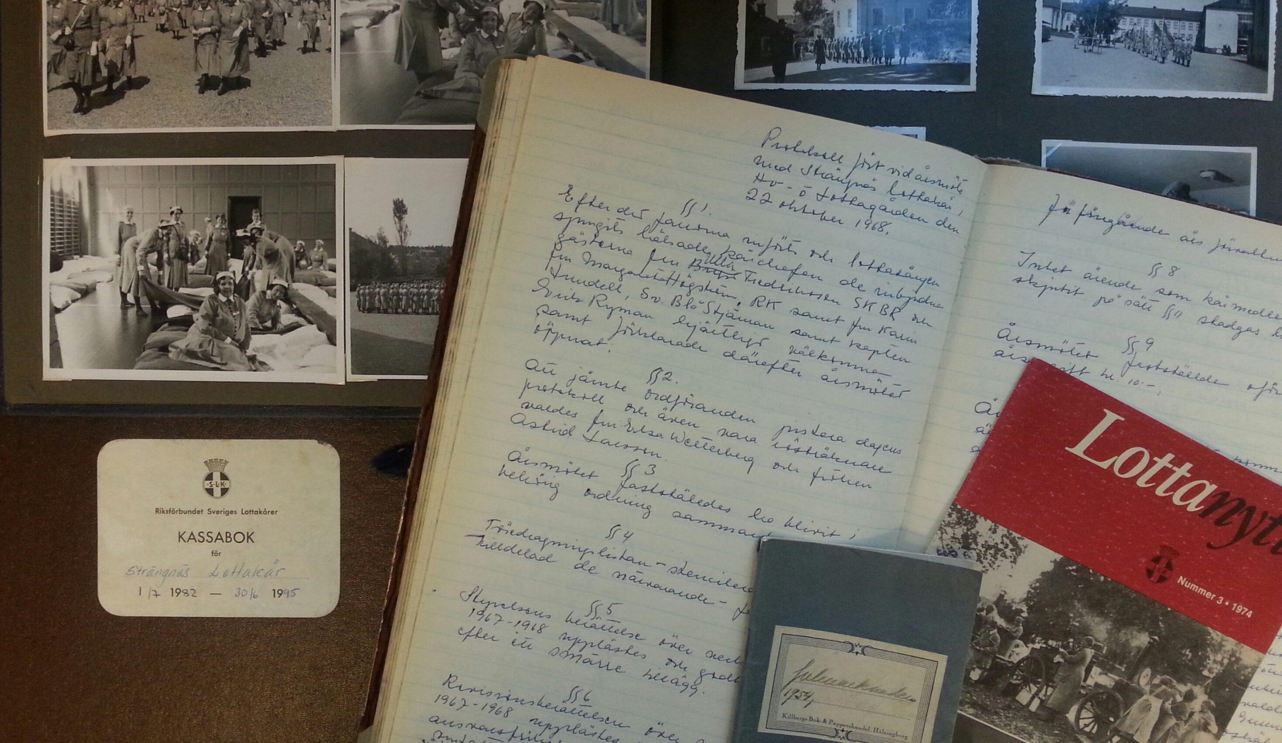 Exempel ur ett föreningsarkiv - Strängnäs lottakår.