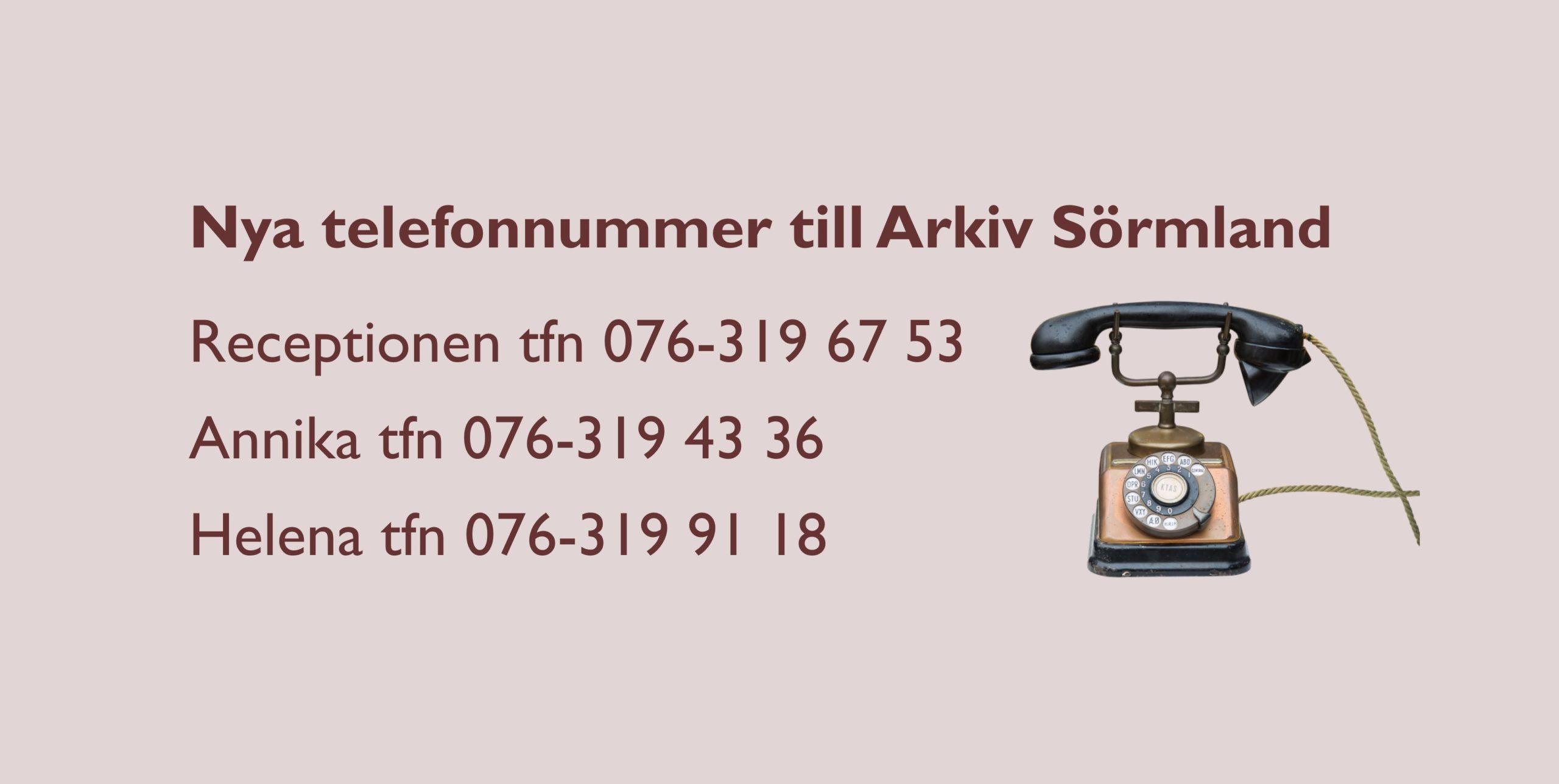 Nya numren med gammal telefon som illustration