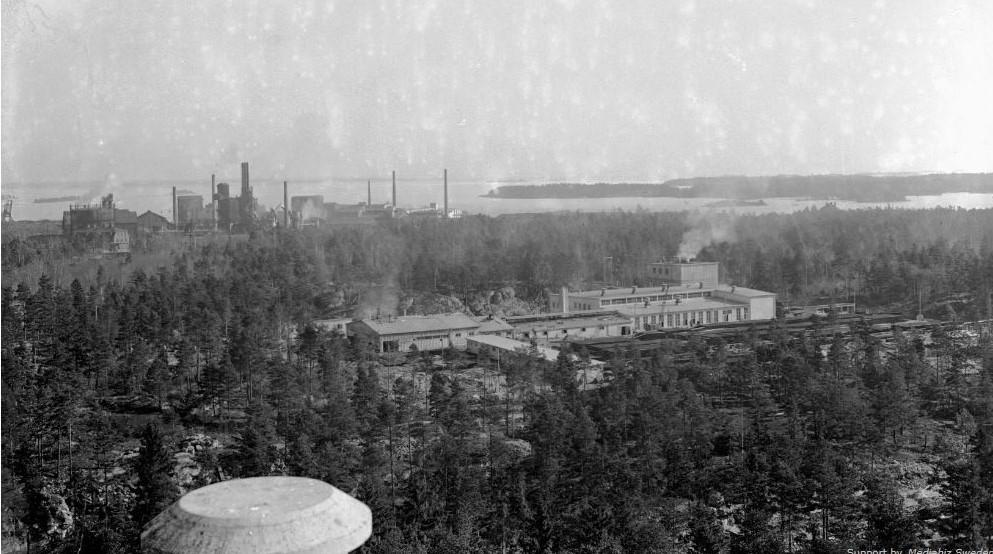 Vy över Cerör ca 1950