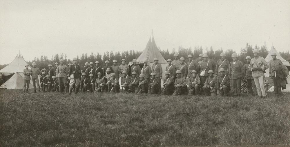 Södermanlands regemente i fält 1920-tal. Foto: okänd. Armemuseum