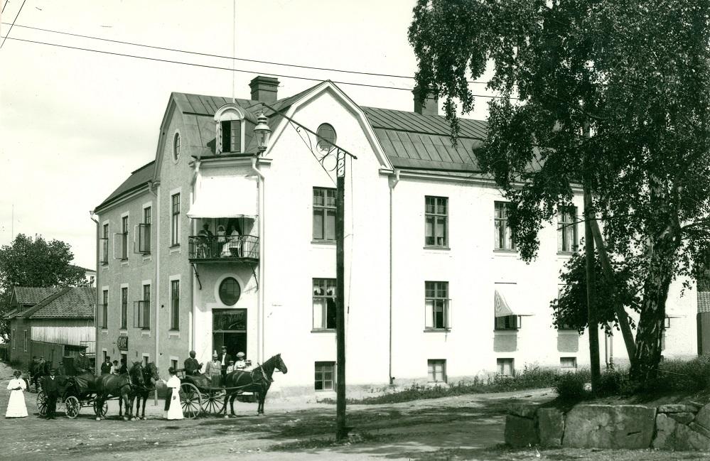 Nya hotellet i Katrineholm tidigt 1900-tal. Foto: okänd. Katrineholms kommunarkiv