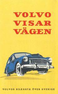 Volvos vägkarta 1956. Arkiv Sörmland