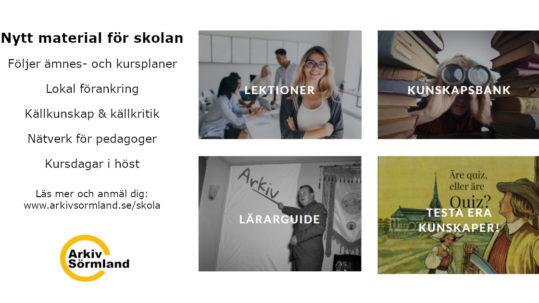 Bilder från Arkiv Sörmlands webbsida för skolan